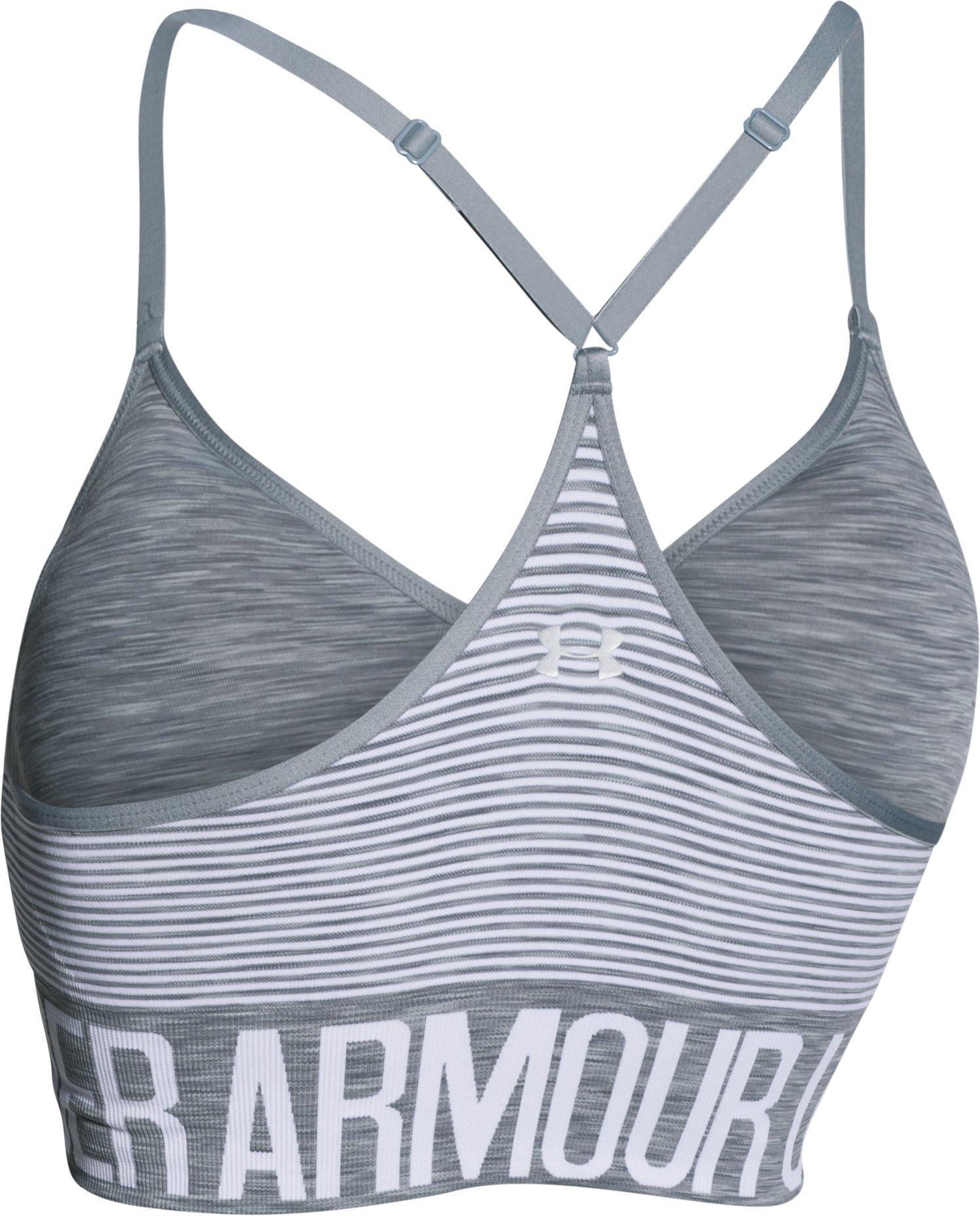 Women's Armour® Seamless Stripe , Steel, undefined