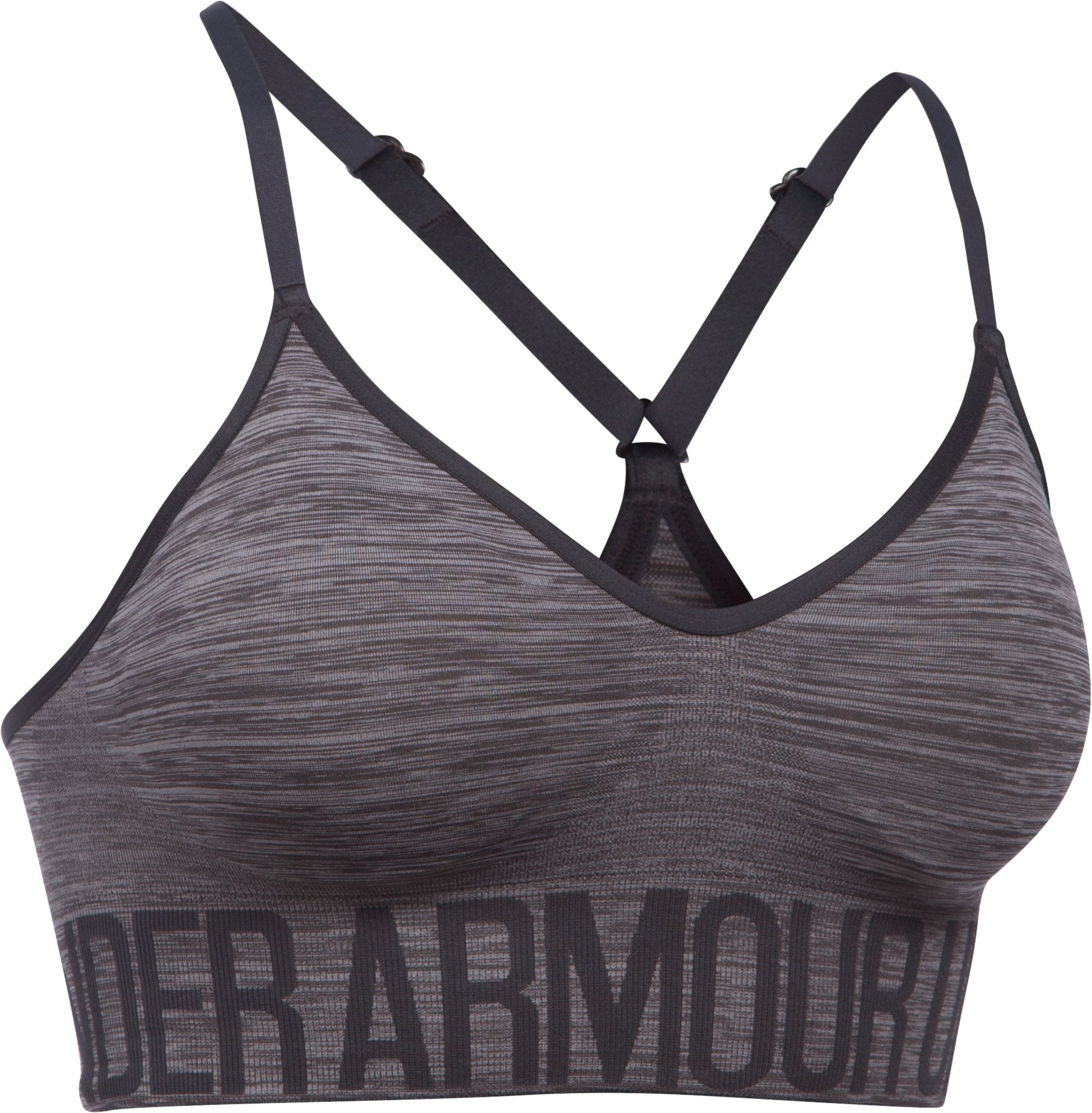 Women's Armour® Seamless Streaky Heather, Carbon Heather, undefined