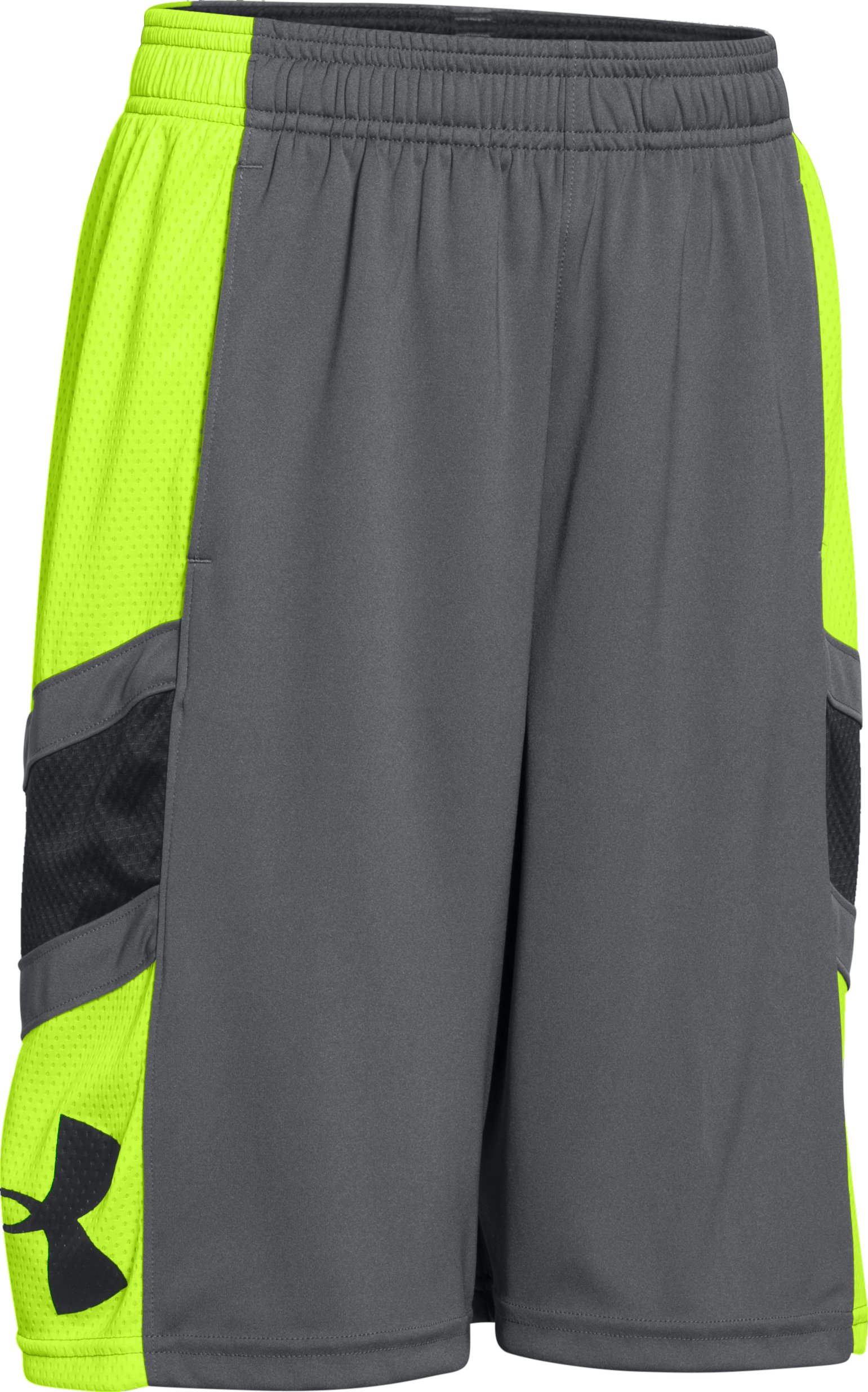 Boys' UA Crossover Basketball Shorts, Graphite, undefined