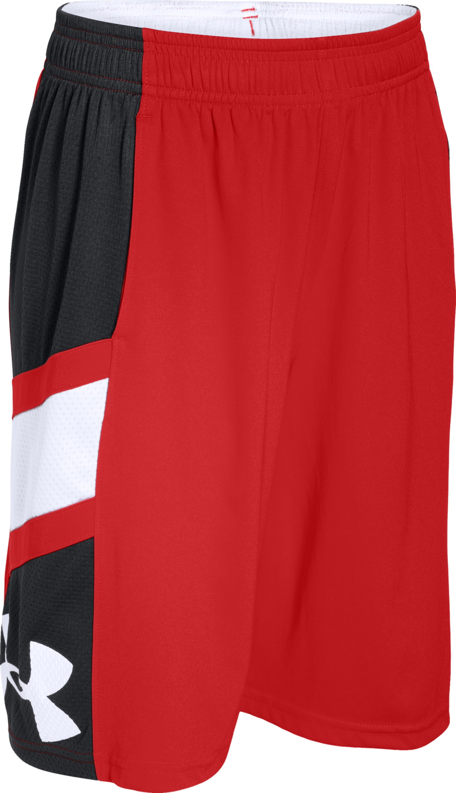 Boys' UA Crossover Basketball Shorts, RISK RED,