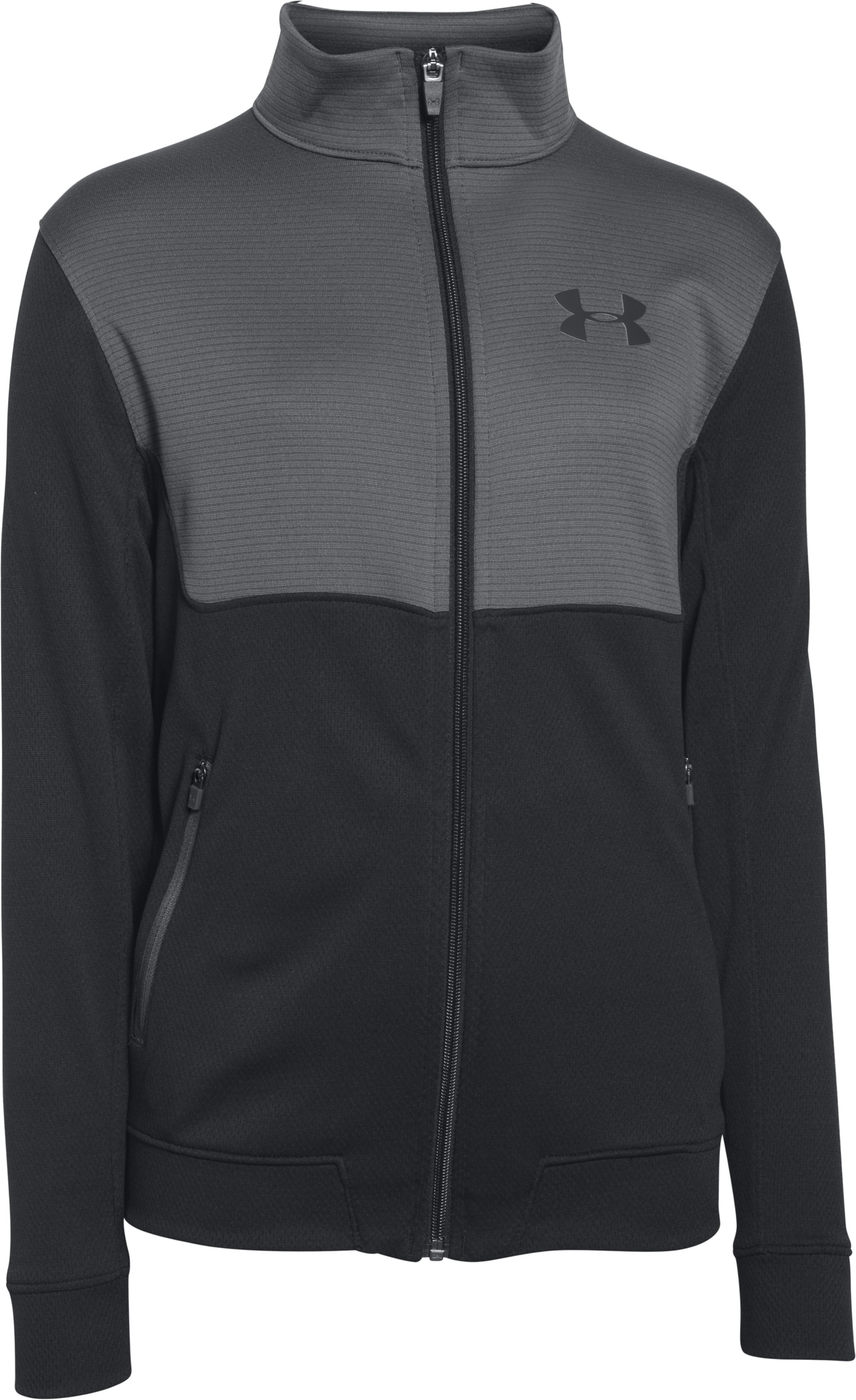 Boys' UA Select Warm-Up Jacket, Black , undefined