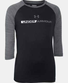 Boys' UA Tech™ 3/4 Sleeve LIMITED TIME: FREE U.S. SHIPPING 3 Colors $22.99