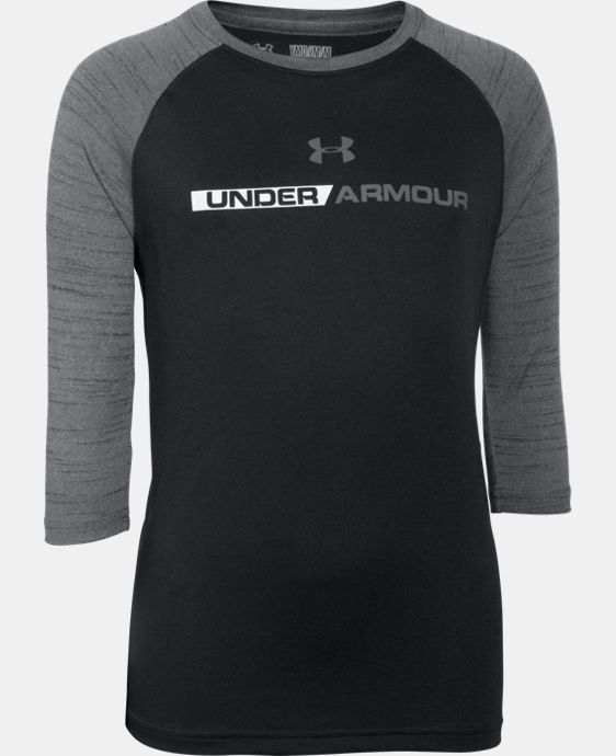 Boys' UA Tech™ 3/4 Sleeve LIMITED TIME: FREE U.S. SHIPPING 2 Colors $22.99