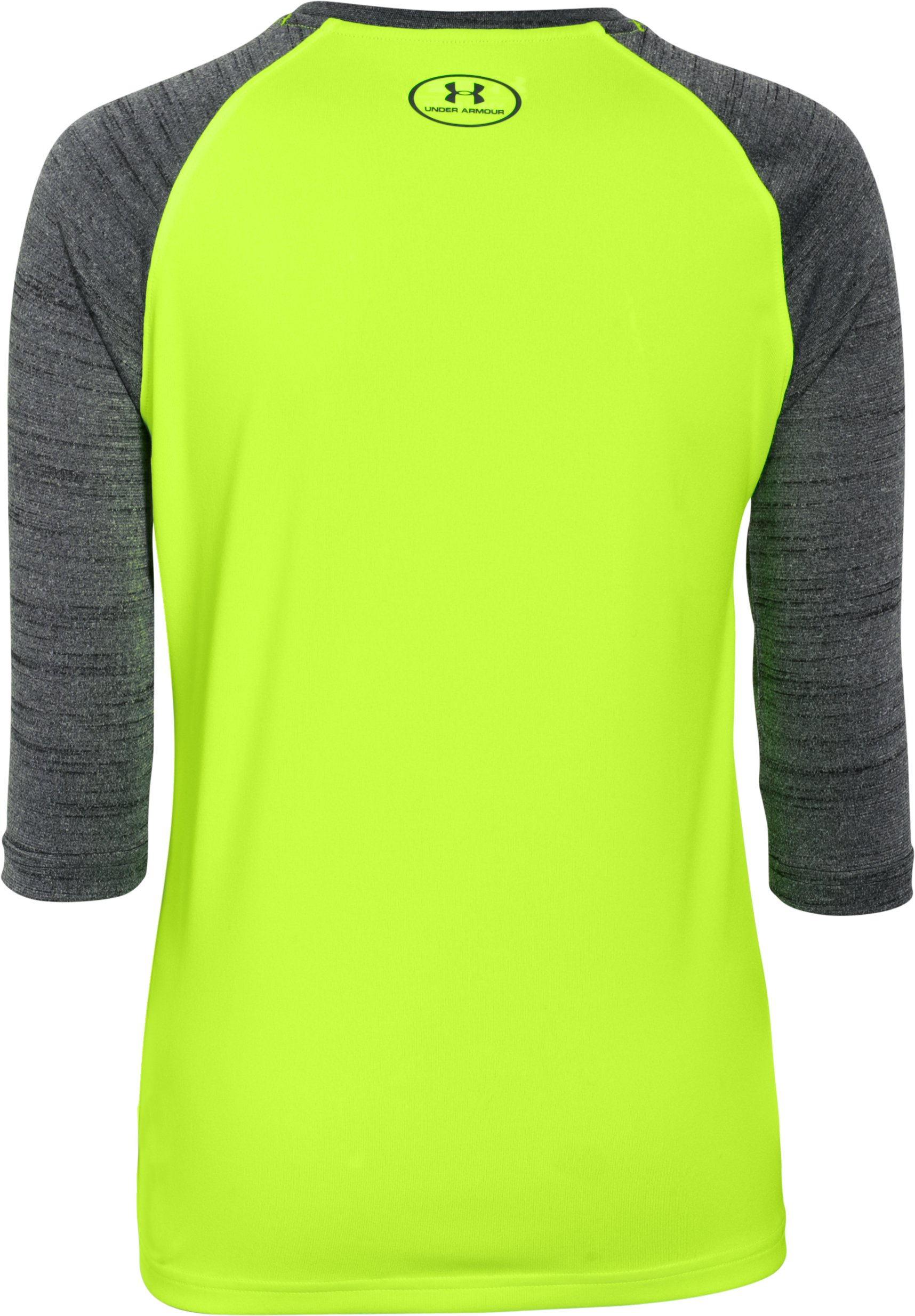 Boys' UA Tech™ 3/4 Sleeve, FUEL GREEN, undefined