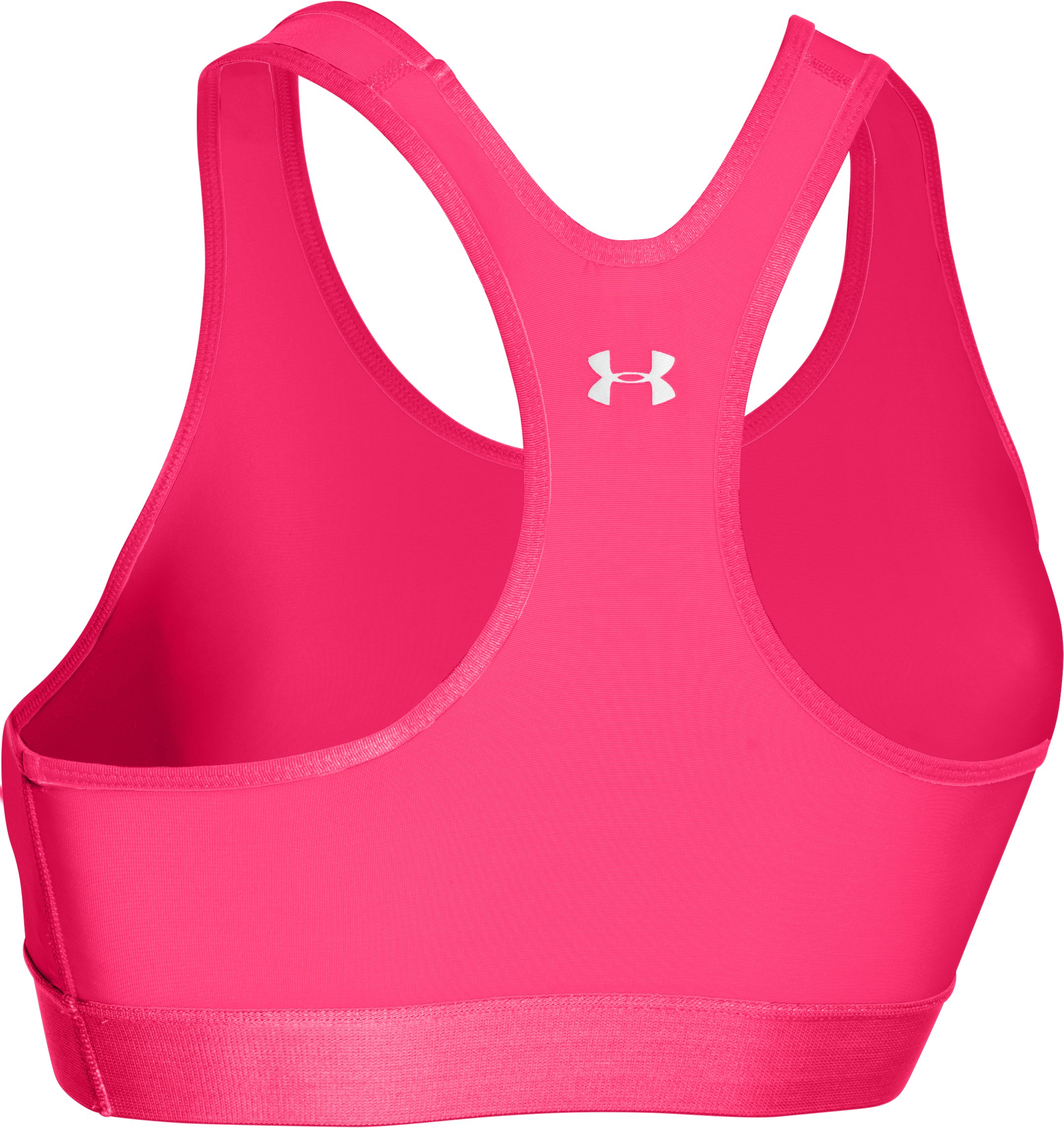 Women's Armour® Mid Sports Bra, HARMONY RED