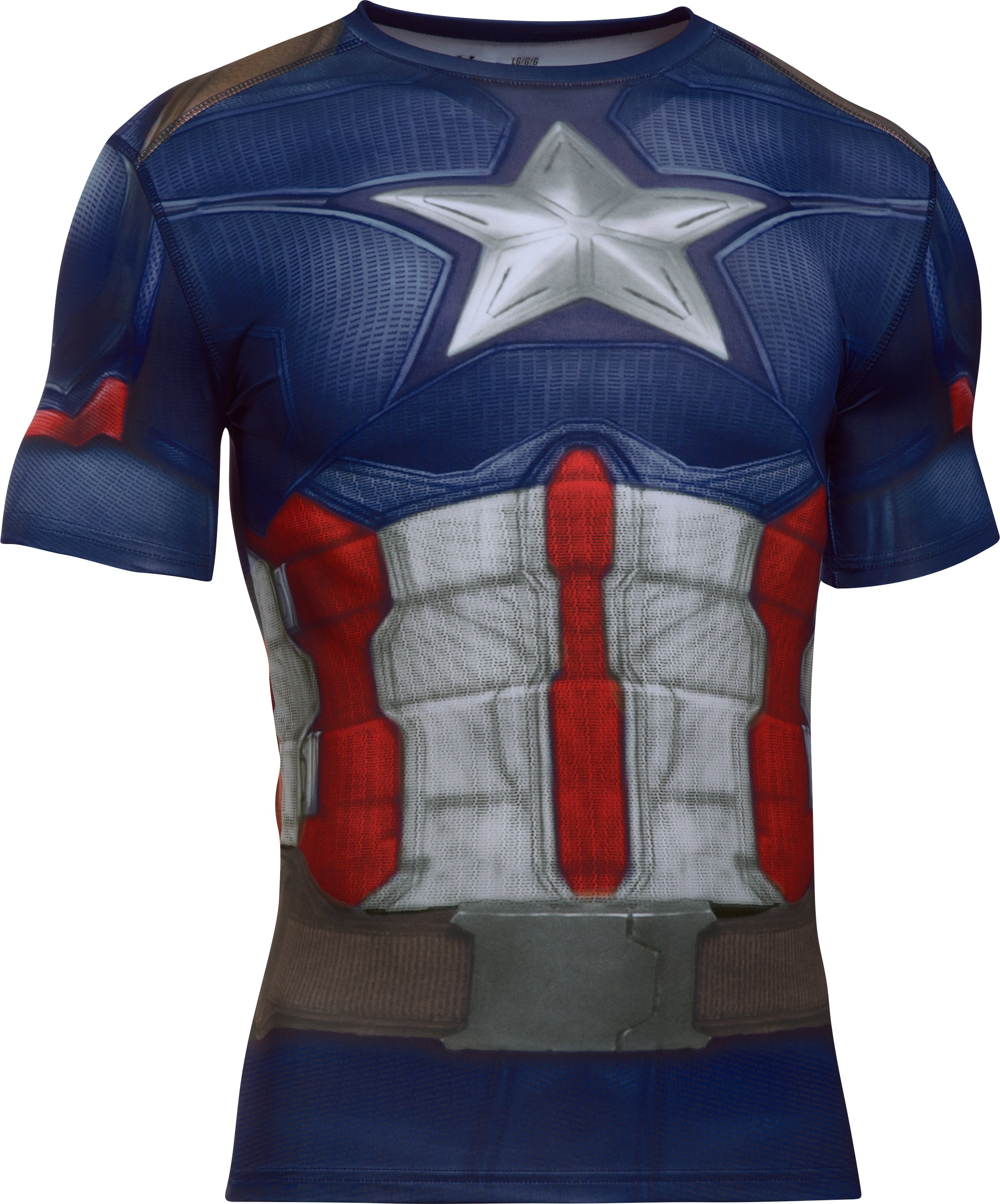 Men's Under Armour® Alter Ego Captain America Compression Shirt, Midnight Navy, undefined