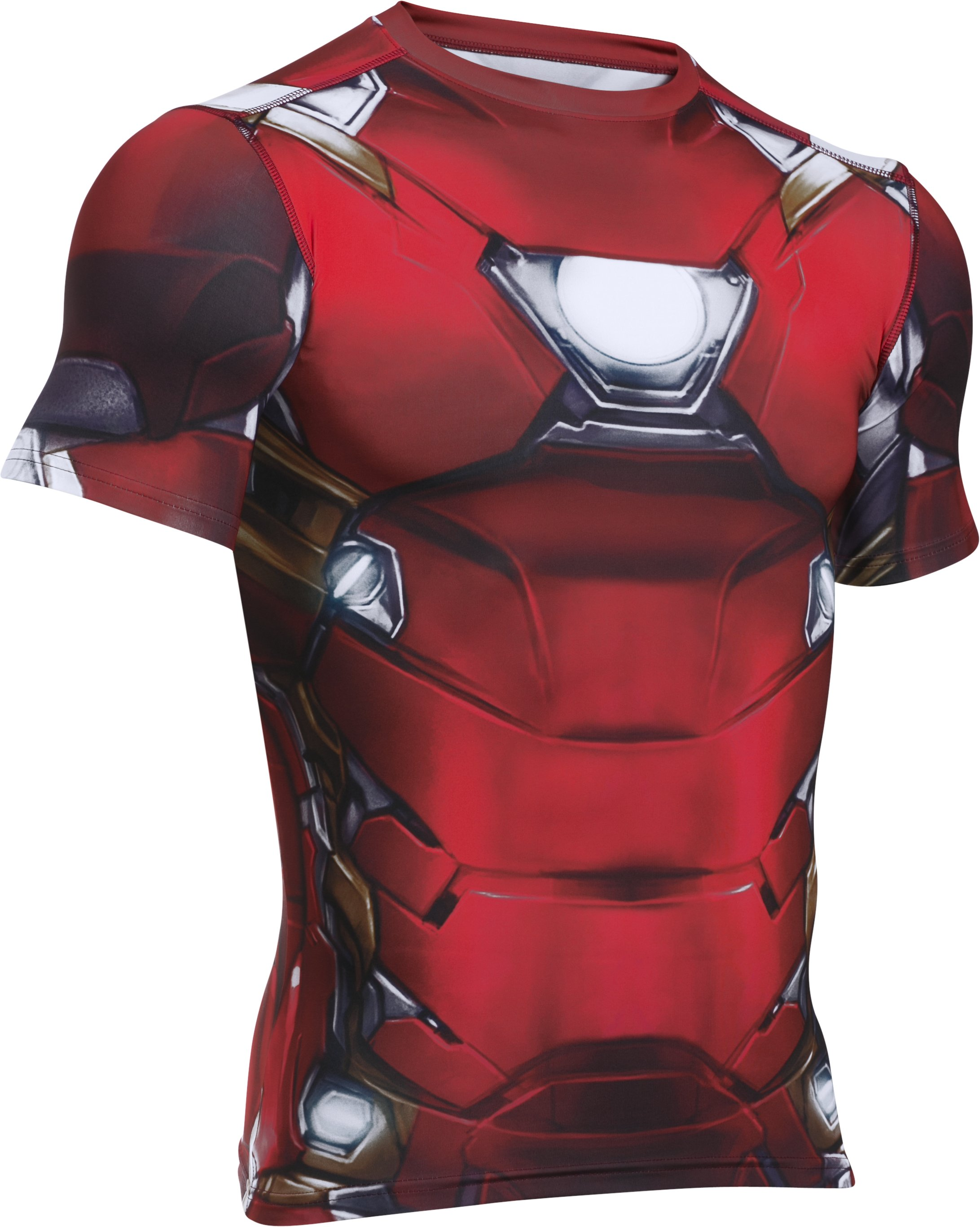 Men's Under Armour® Alter Ego Iron Man Compression Shirt, Cardinal,