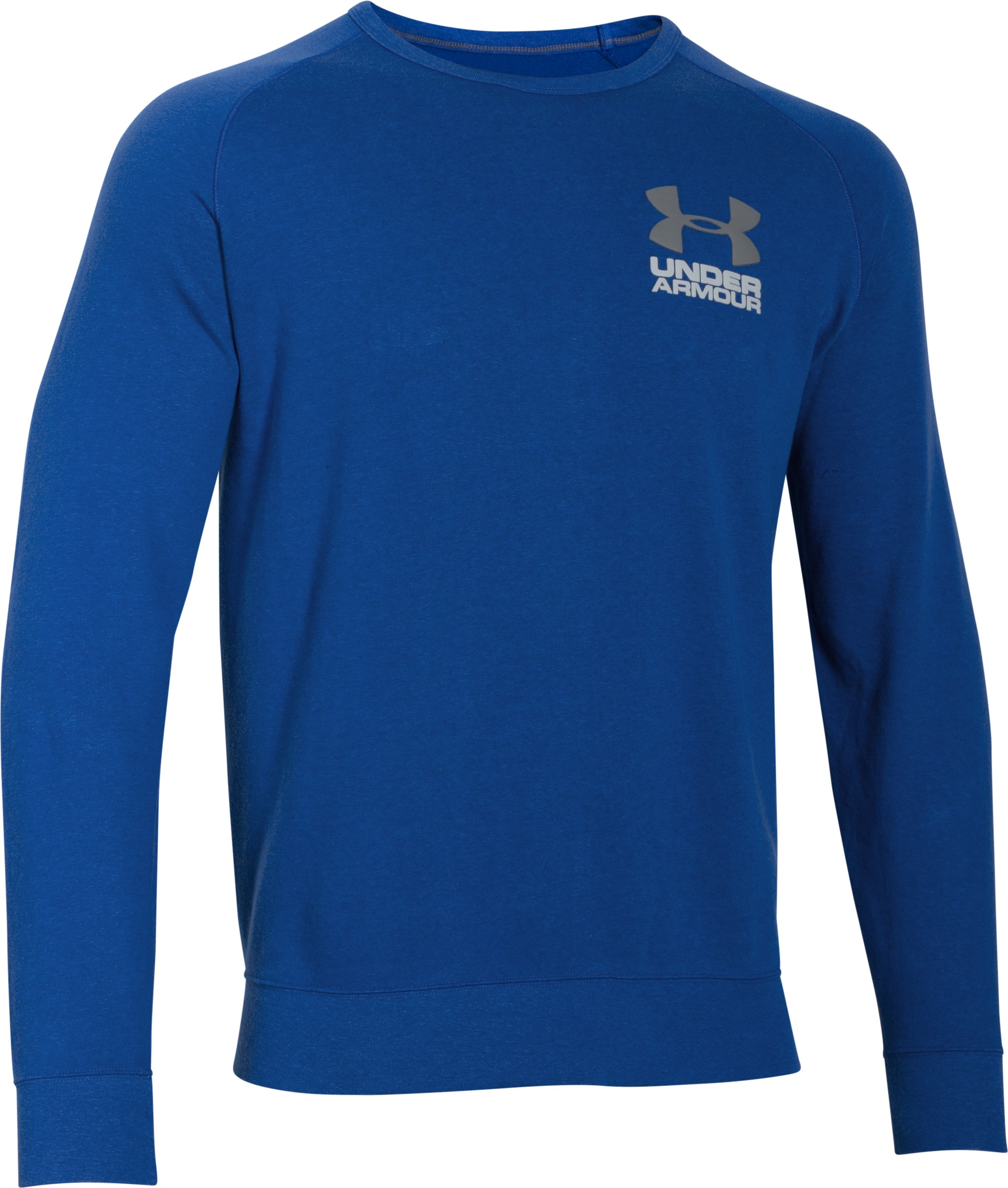 Men's UA Sportstyle Fleece Crew, Royal, undefined