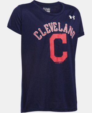 Girls' Cleveland Indians UA Tech™ T-Shirt LIMITED TIME: FREE U.S. SHIPPING  $18.99