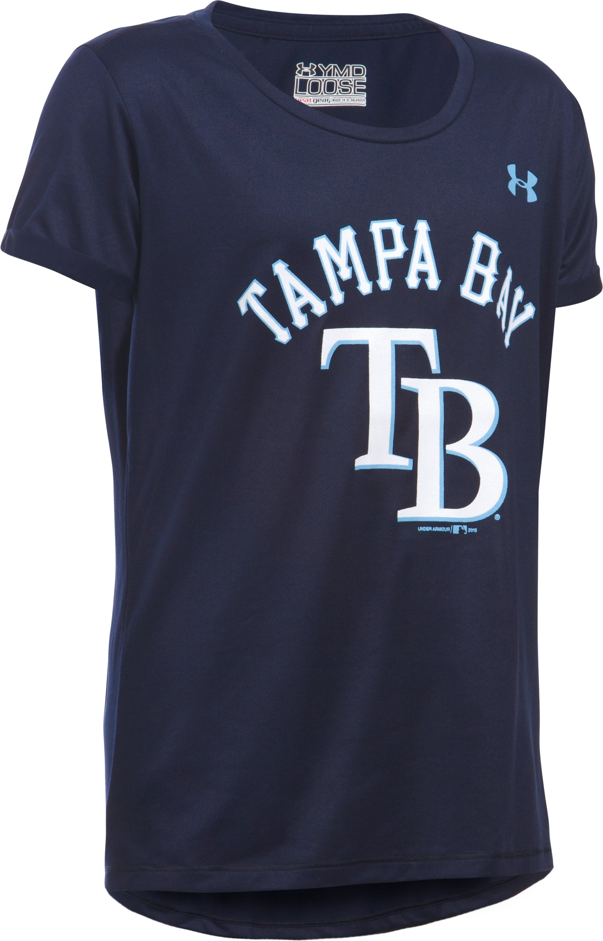 Girls' Tampa Bay Rays UA Tech™ T-Shirt, Midnight Navy