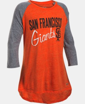 Girls' San Francisco Giants UA Tri-Blend ¾ Sleeve  1 Color $26.99