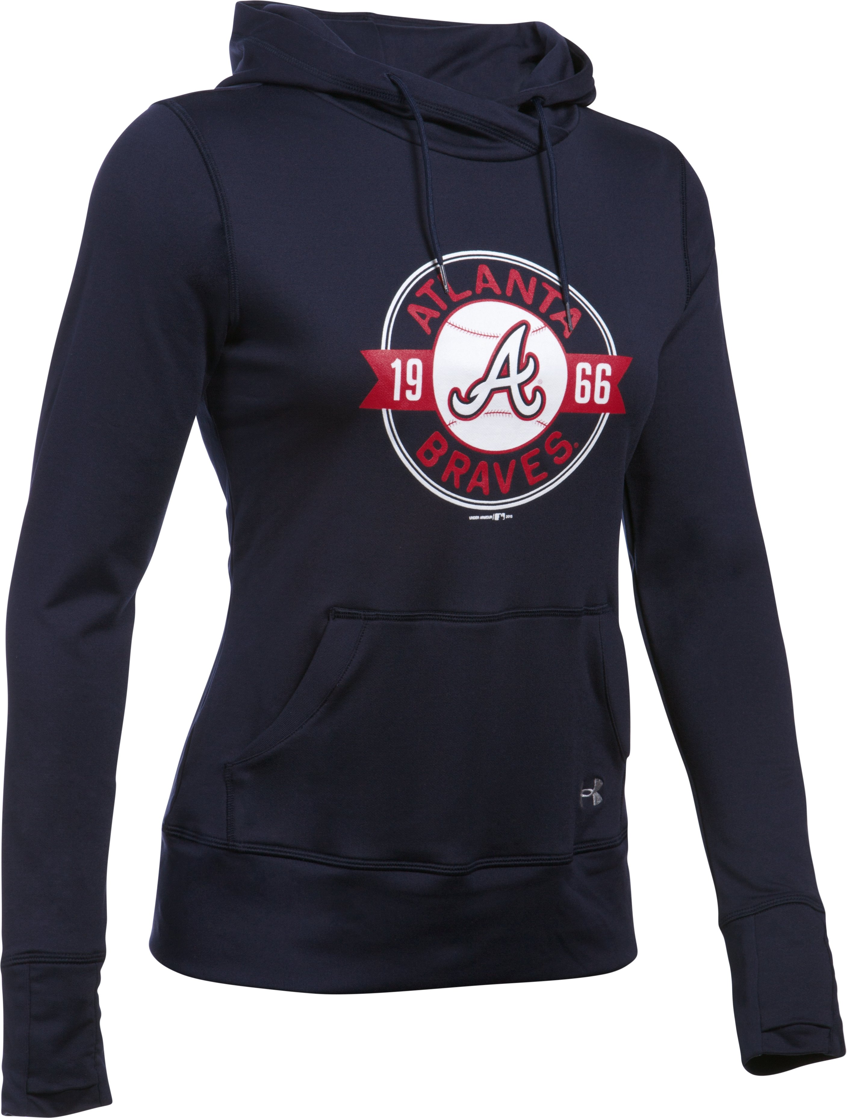 Women's Atlanta Braves UA French Terry Hoodie, Midnight Navy, undefined