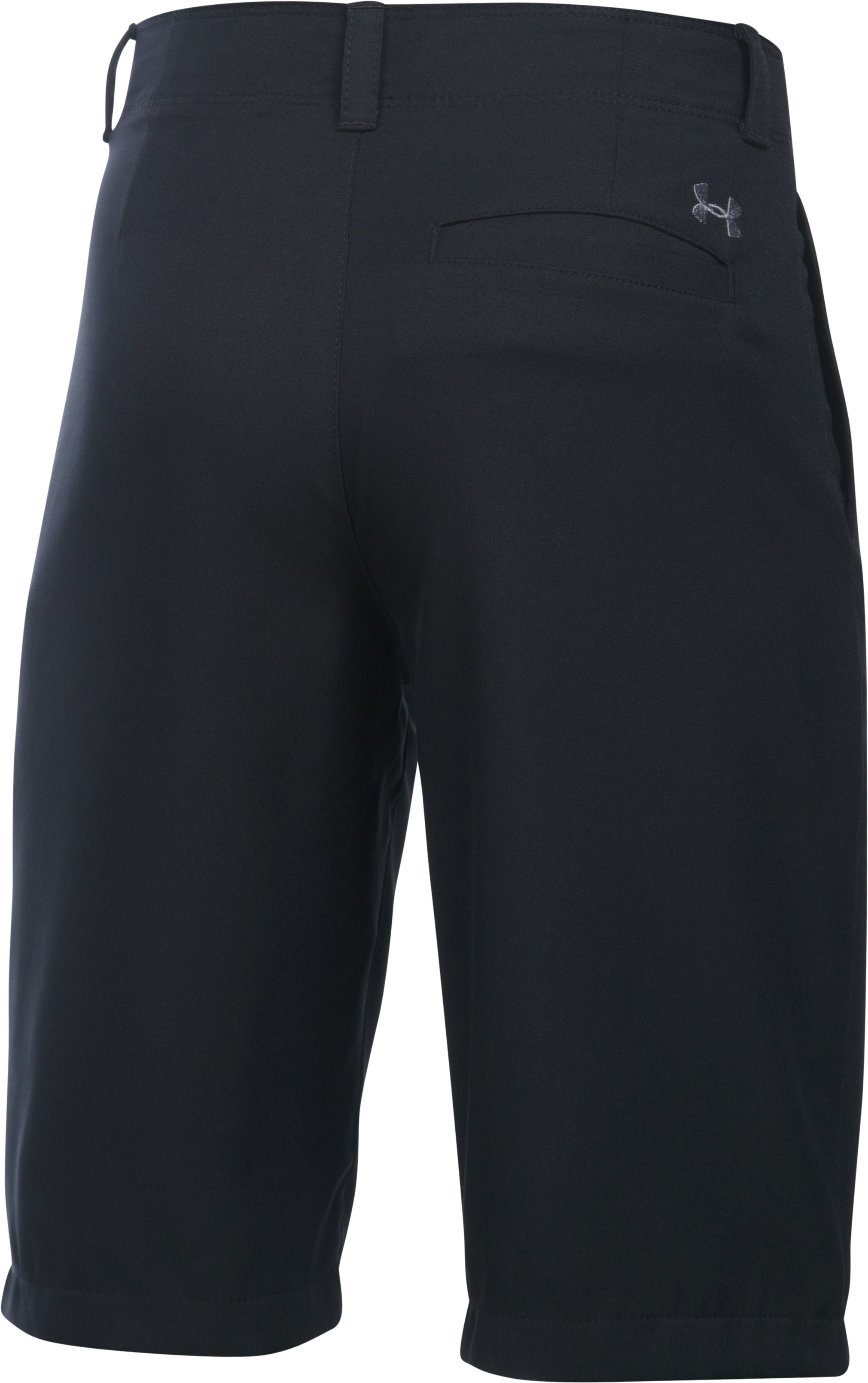 Boys' UA Medal Play Golf Shorts , Black ,