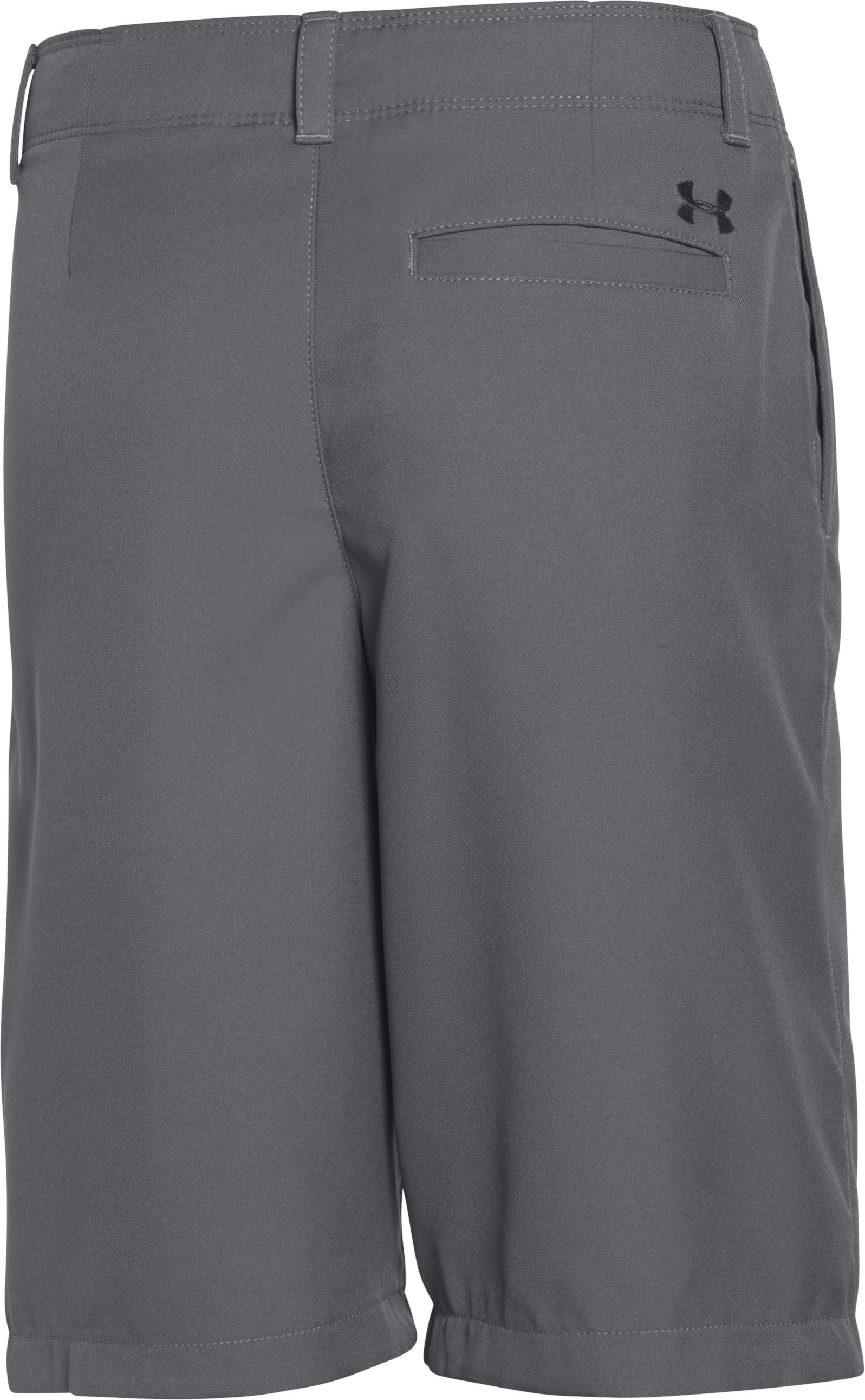 Boys' UA Medal Play Golf Shorts , Graphite, undefined