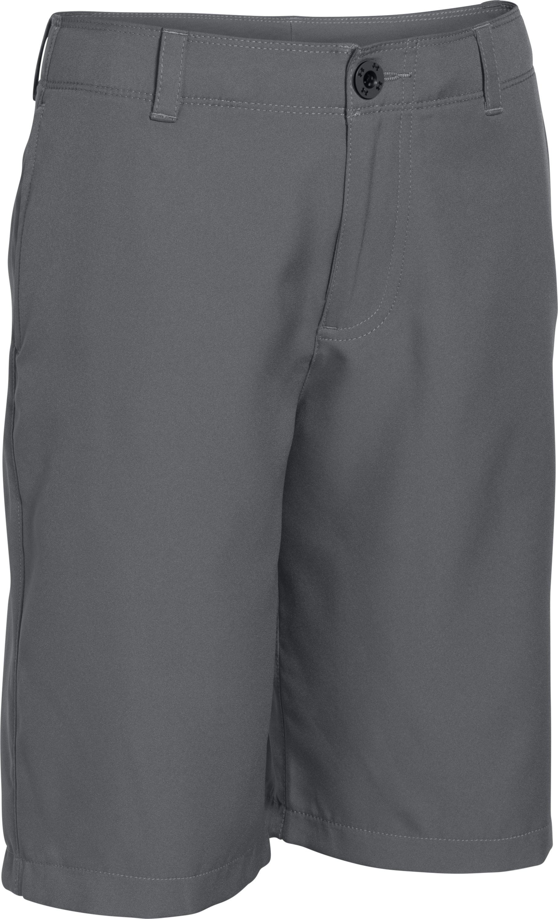 Boys' UA Medal Play Golf Shorts , Graphite