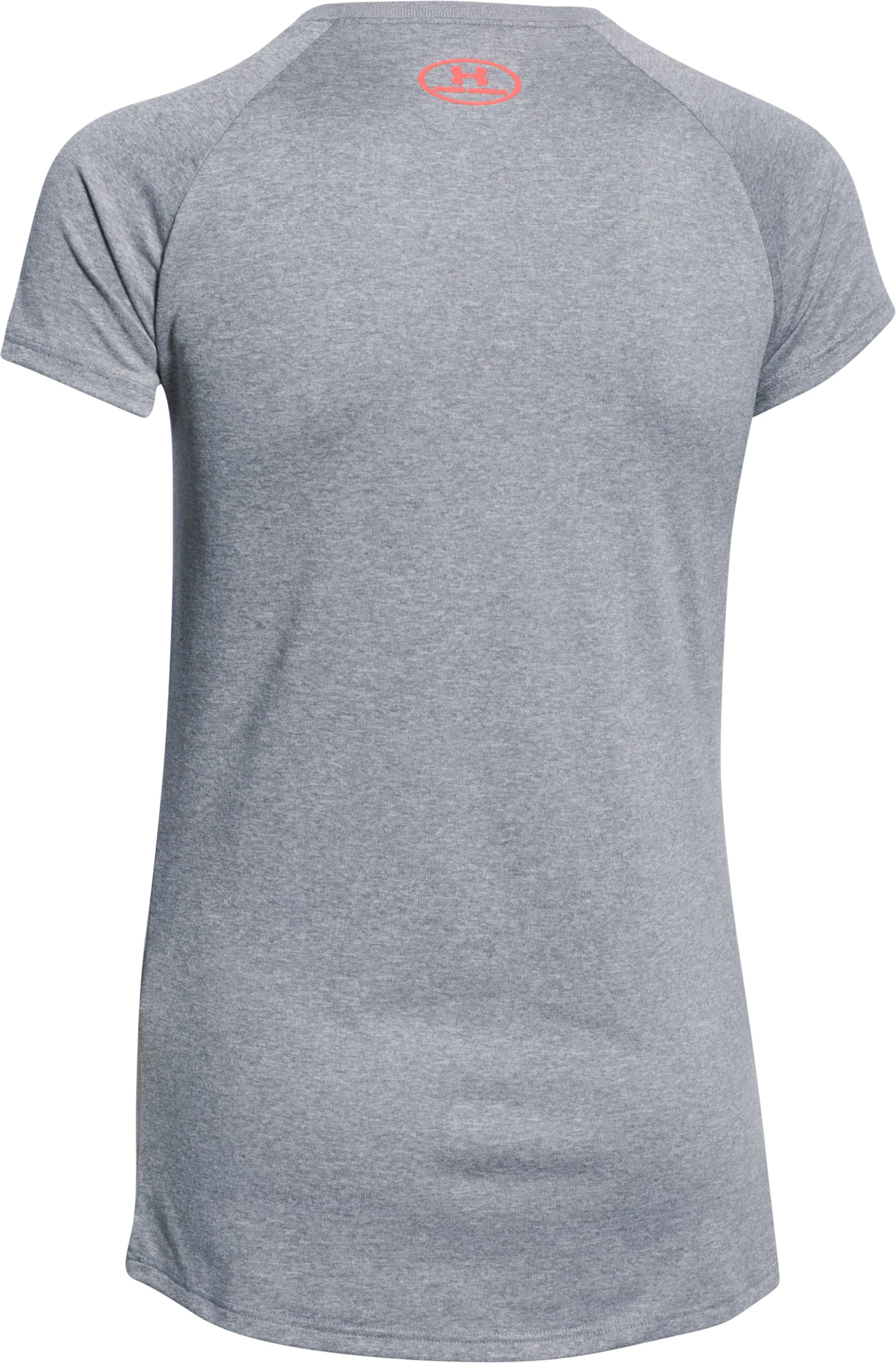 Girls' UA Big Logo T-Shirt, True Gray Heather,