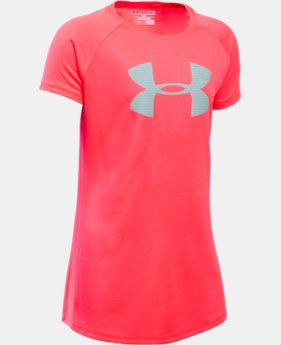New to Outlet Girls' UA Big Logo T-Shirt  20 Colors $11.99 to $14.99