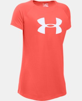 Best Seller Girls' UA Big Logo T-Shirt LIMITED TIME: FREE SHIPPING 1 Color $19.99