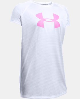 Best Seller Girls' UA Novelty Big Logo T-Shirt LIMITED TIME: FREE SHIPPING 1 Color $24.99