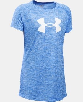 Best Seller Girls' UA Novelty Big Logo T-Shirt  2 Colors $24.99