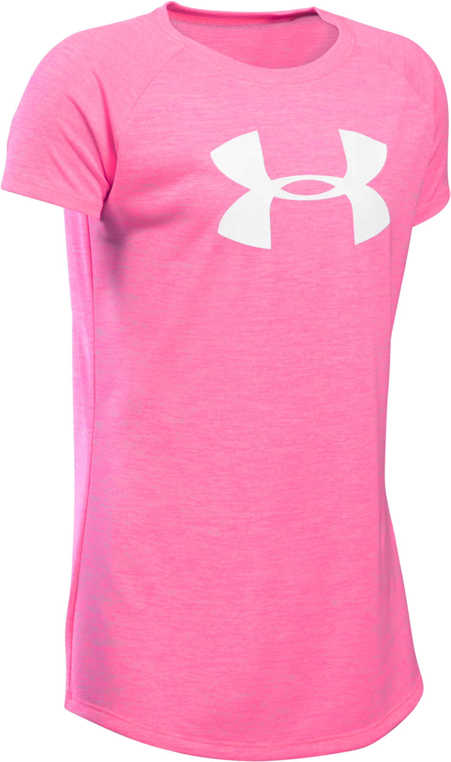 Girls' UA Big Logo T-Shirt, PINK PUNK,