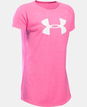 Best Seller Girls' UA Novelty Big Logo T-Shirt LIMITED TIME: FREE SHIPPING  $24.99