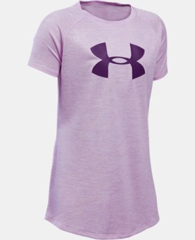 Girls' UA Big Logo T-Shirt  1 Color $18.99
