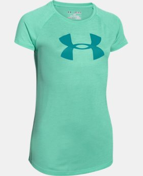 Best Seller Girls' UA Novelty Big Logo T-Shirt  3 Colors $24.99