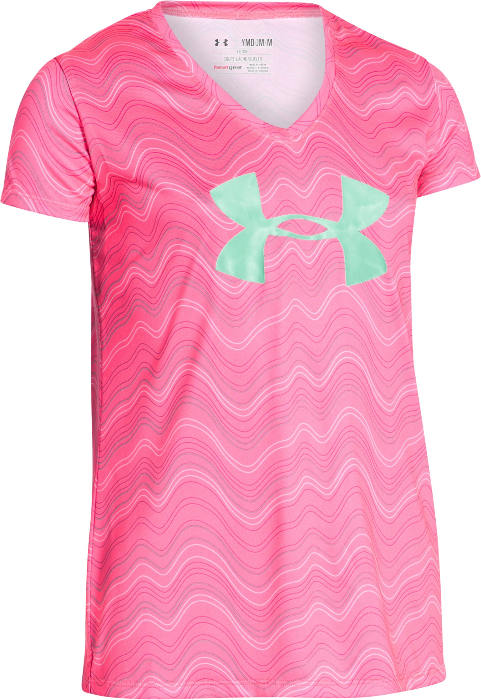 Girls' UA Big Logo T-Shirt, HARMONY RED,