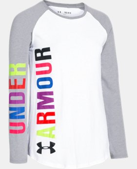 Best Seller Girls' UA Favorite Long Sleeve T-Shirt LIMITED TIME: FREE SHIPPING 2 Colors $29.99