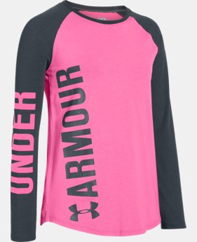 Girls' UA Favorite Long Sleeve T-Shirt LIMITED TIME: FREE SHIPPING  $29.99