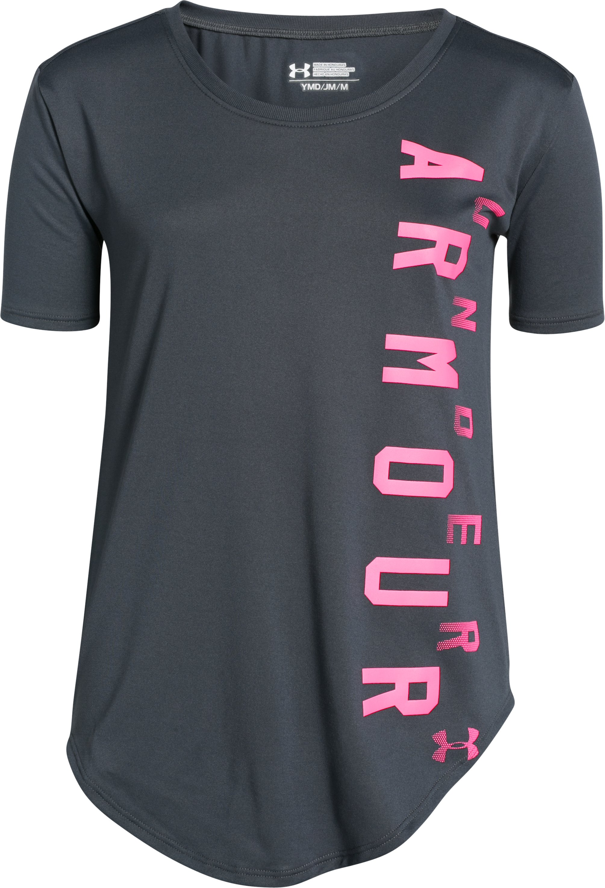 Girls' UA Your Favorite Tech™ T-Shirt, STEALTH GRAY,