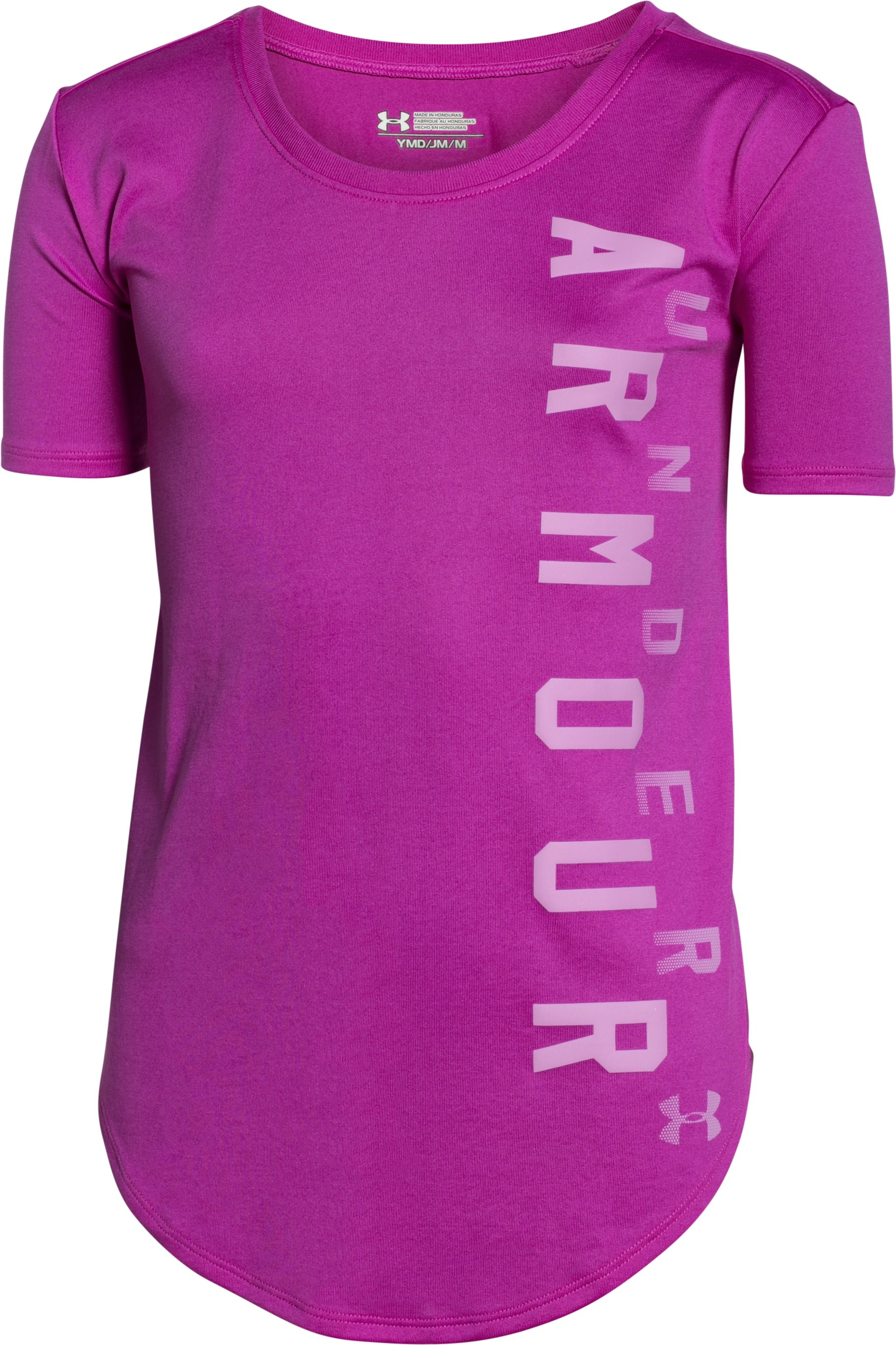 Girls' UA Your Favorite Tech™ T-Shirt, STROBE, undefined