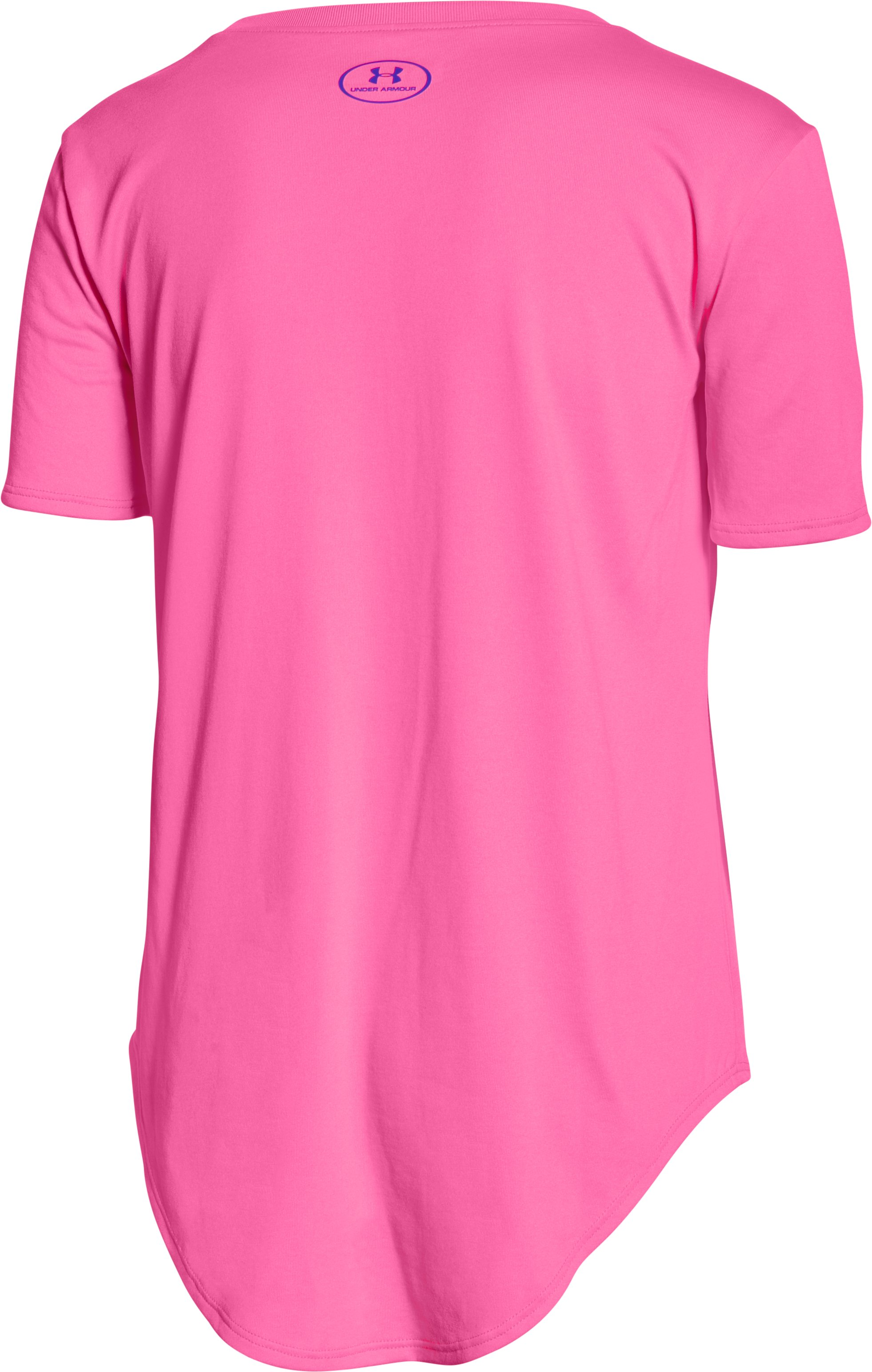 Girls' UA Your Favorite Tech™ T-Shirt, PINK PUNK