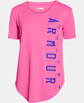 Girls' UA Your Favorite Tech™ T-Shirt  1 Color $27.99