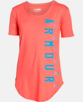 Best Seller Girls' UA Your Favorite Tech™ T-Shirt LIMITED TIME: FREE SHIPPING 4 Colors $24.99