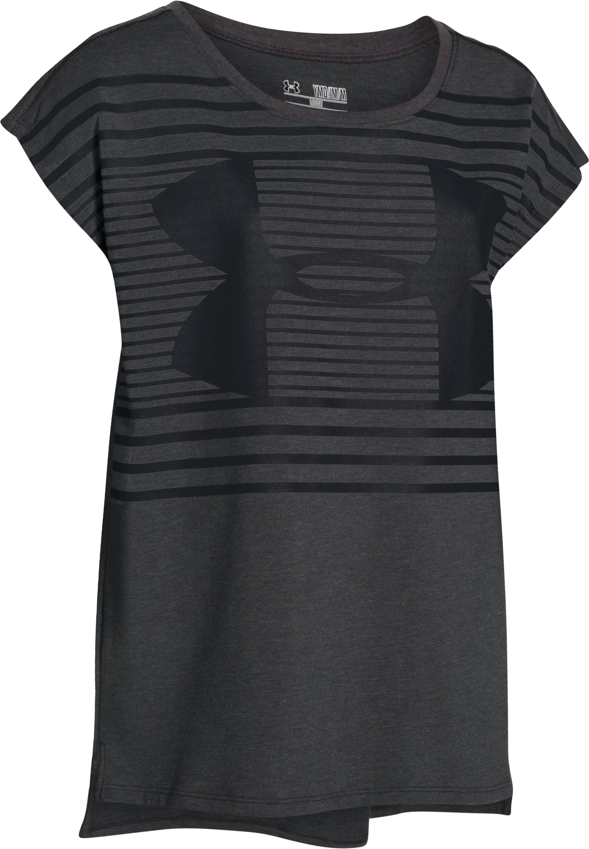 Girls' UA Favorite Short Sleeve T-Shirt, Carbon Heather,