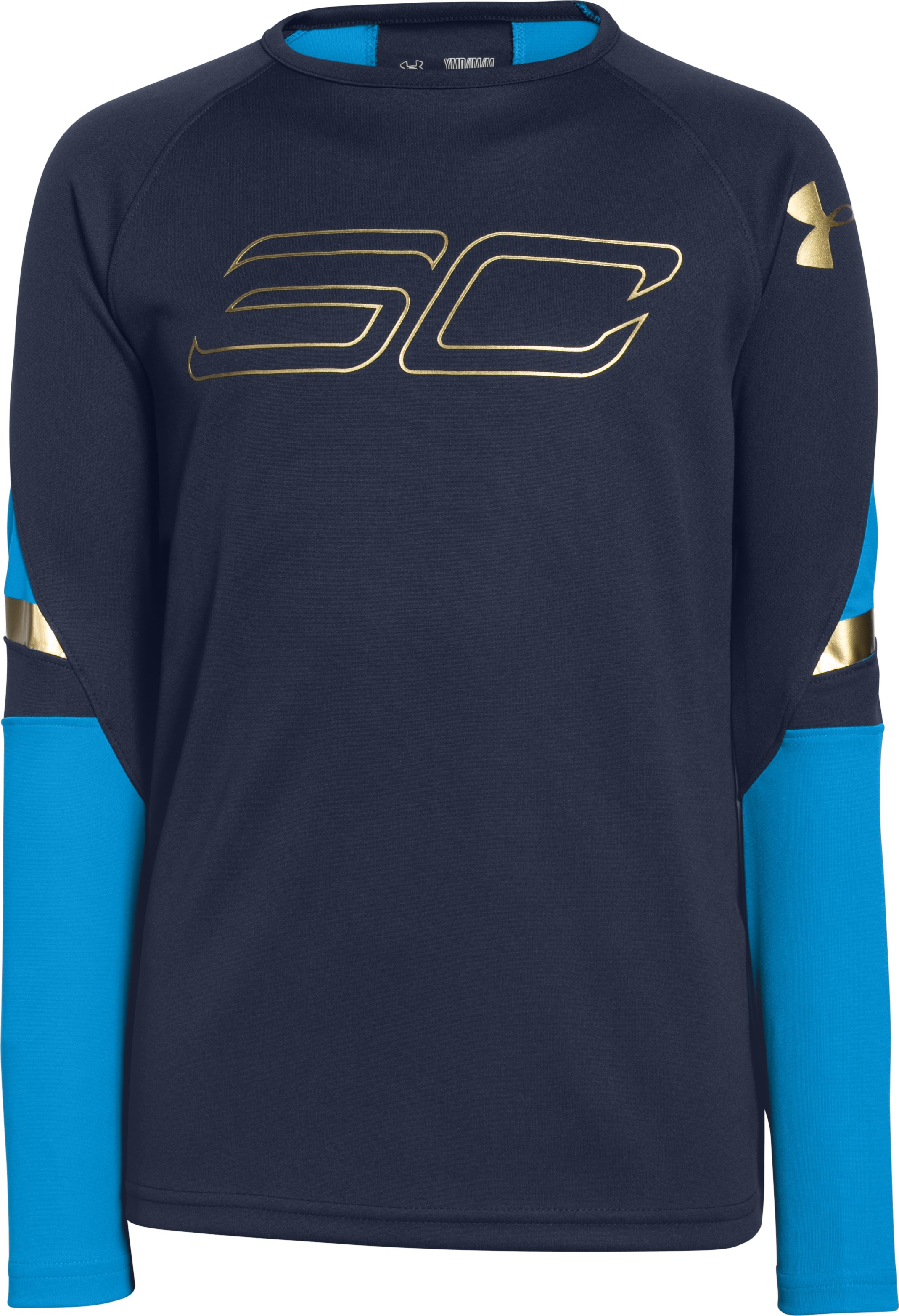 Boys' SC30 Heatseeker Shooting Shirt, Midnight Navy