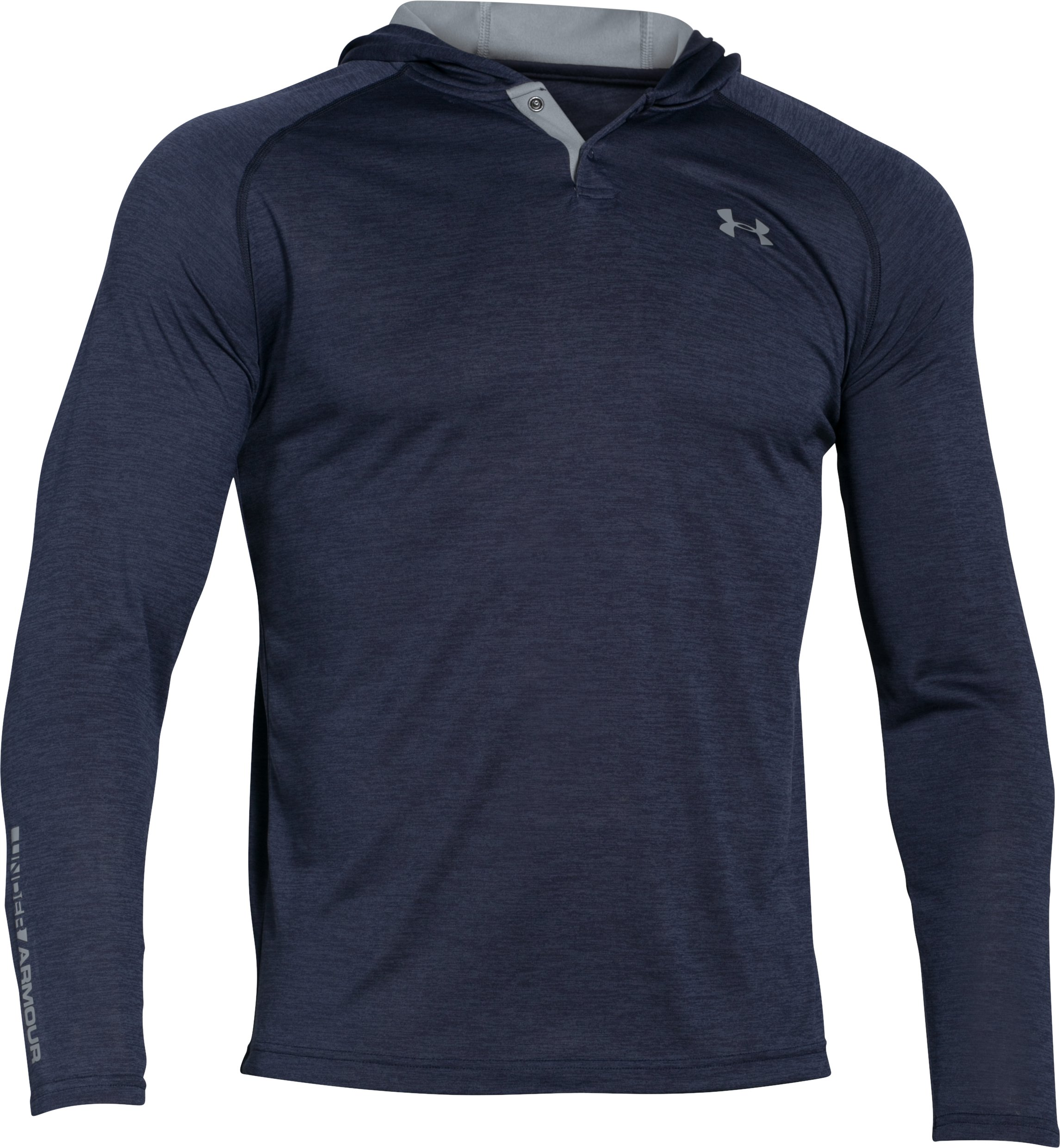 Men's UA Tech™ Popover Hoodie, Midnight Navy, undefined
