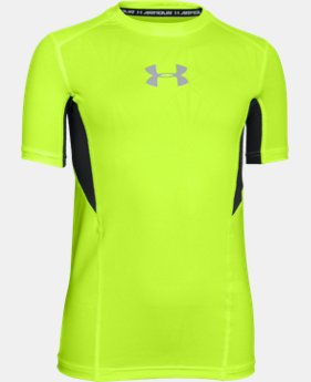 New Arrival  Boys' UA CoolSwitch Fitted Short Sleeve Shirt LIMITED TIME: FREE SHIPPING 1 Color $26.99
