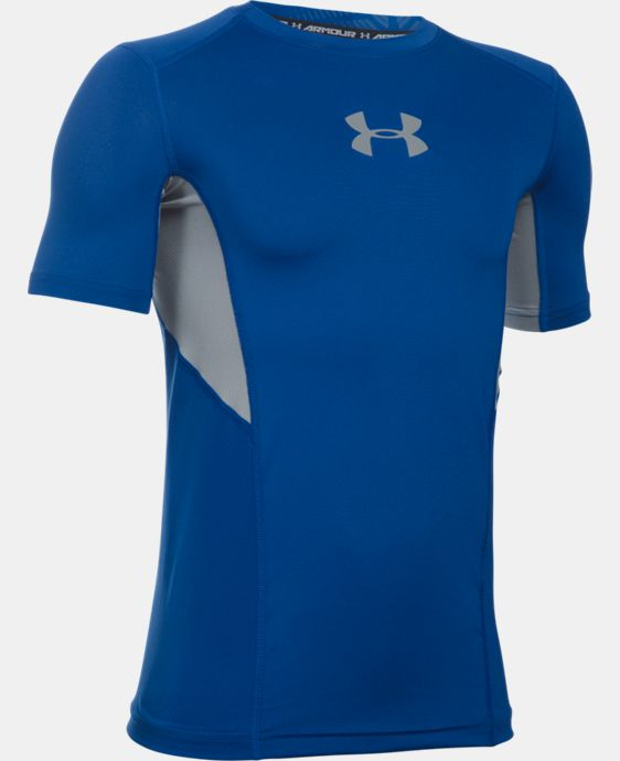 Boys' UA CoolSwitch Fitted Short Sleeve Shirt LIMITED TIME: FREE SHIPPING 1 Color $22.99 to $26.99