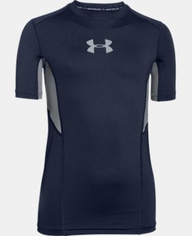Boys' UA CoolSwitch Fitted Short Sleeve Shirt LIMITED TIME: FREE SHIPPING 2 Colors $34.99