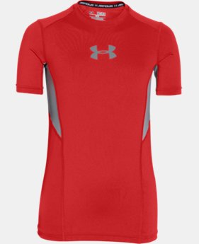 Boys' UA CoolSwitch Fitted Short Sleeve Shirt LIMITED TIME: FREE SHIPPING 1 Color $34.99