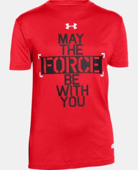 Boys' Star Wars Force Be With You UA T-Shirt LIMITED TIME: FREE U.S. SHIPPING  $24.99
