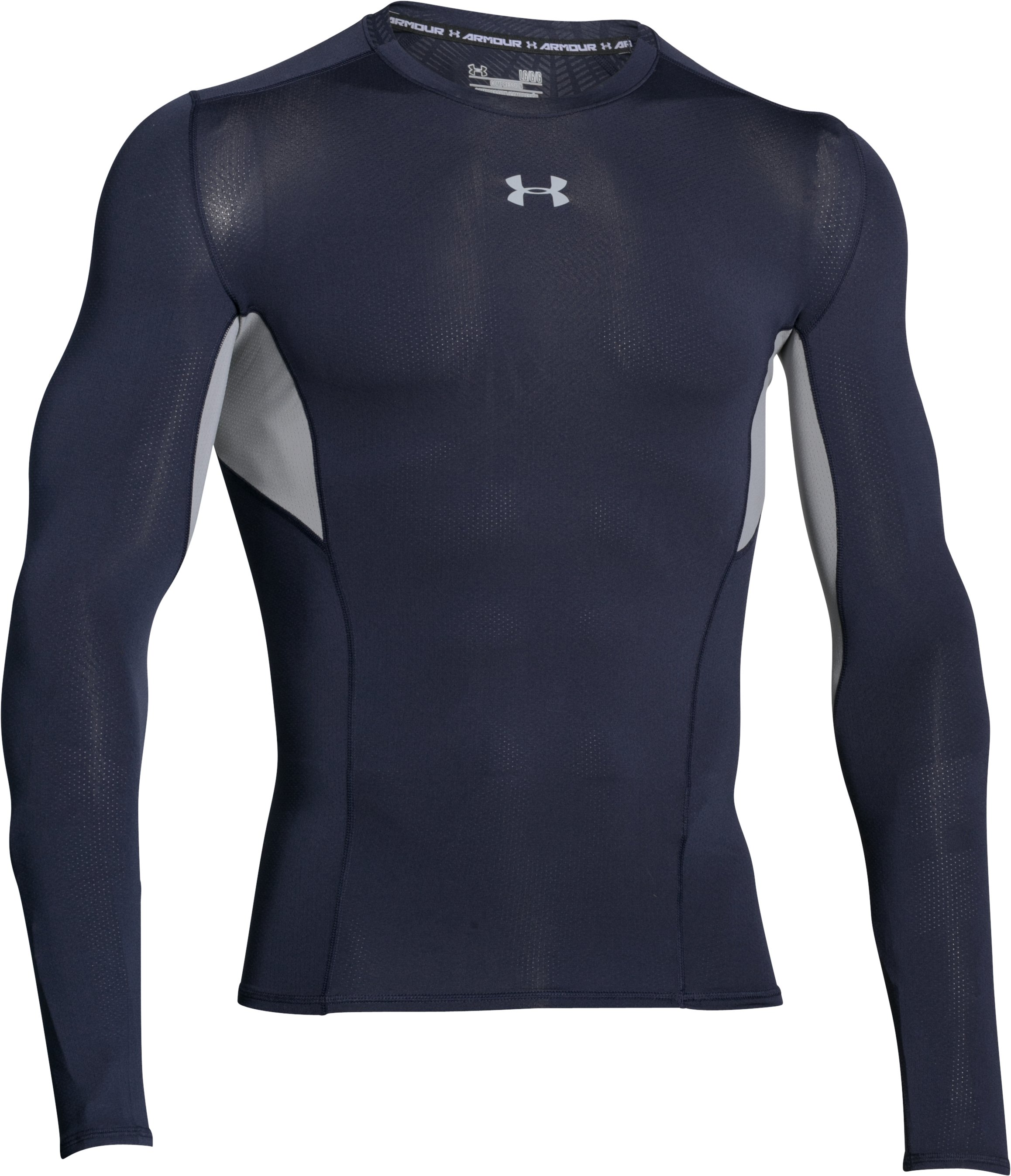 Men's UA CoolSwitch Long Sleeve Compression Shirt, Midnight Navy, undefined