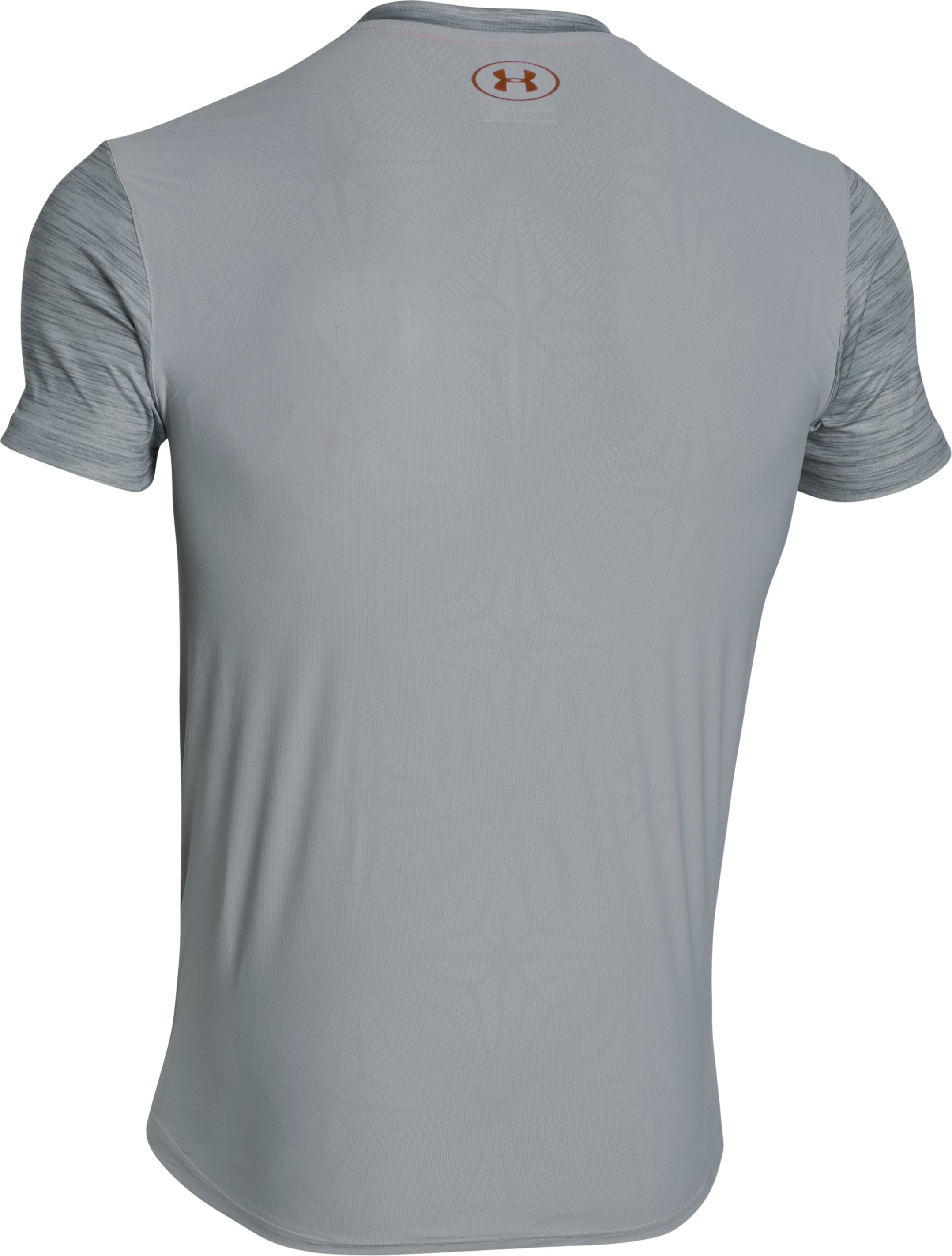 Men's UA CoolSwitch Run Road To Rio Short Sleeve, OVERCAST GRAY, undefined