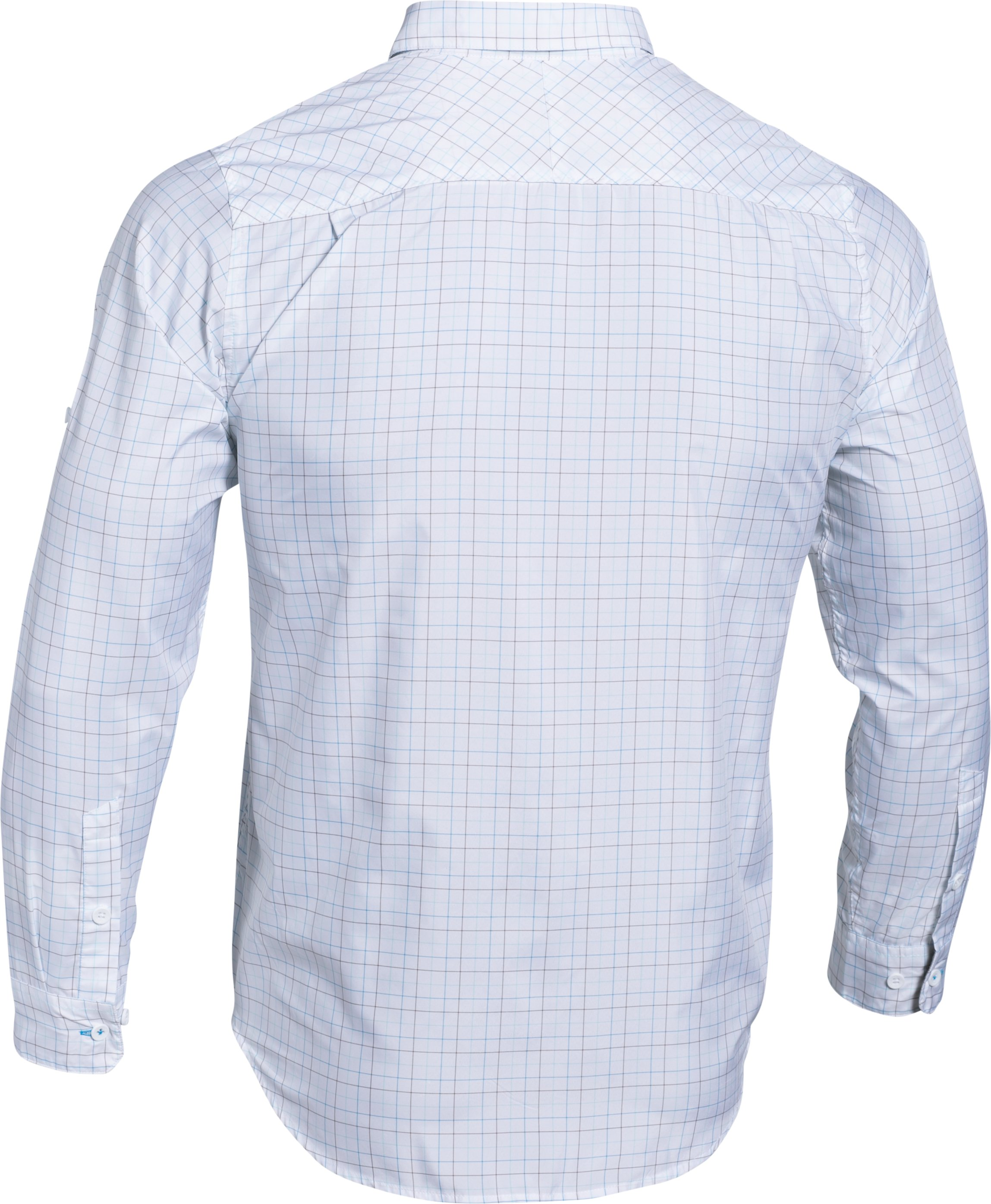 Men's UA Chesapeake Plaid Long Sleeve Shirt, ELECTRIC BLUE