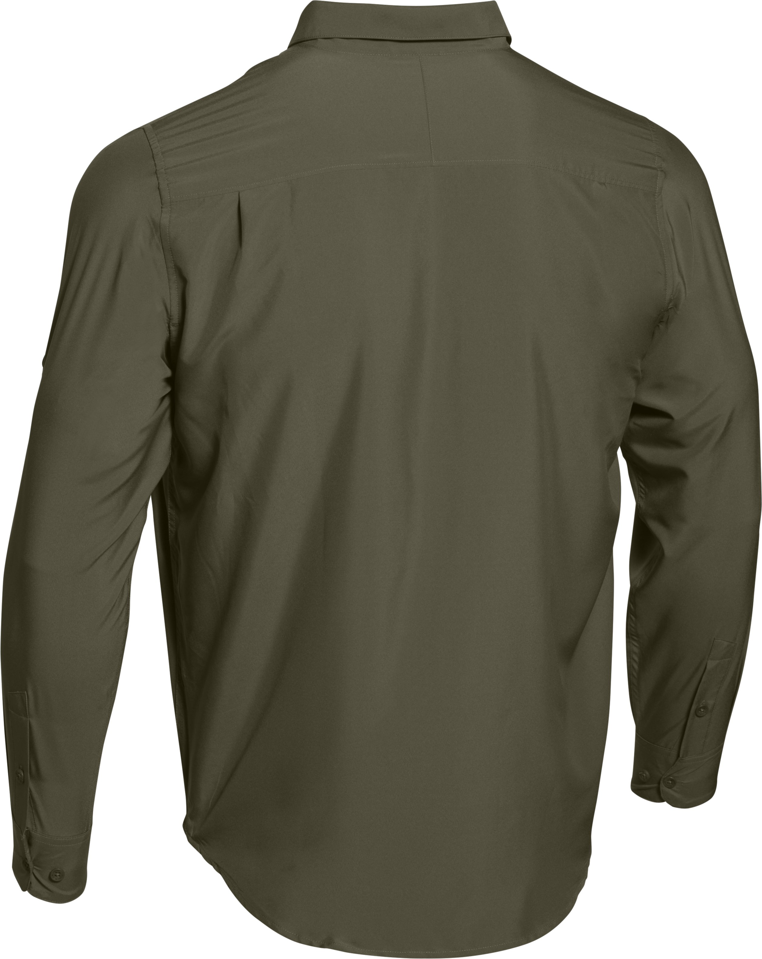 Men's UA Chesapeake Long Sleeve Shirt, Marine OD Green