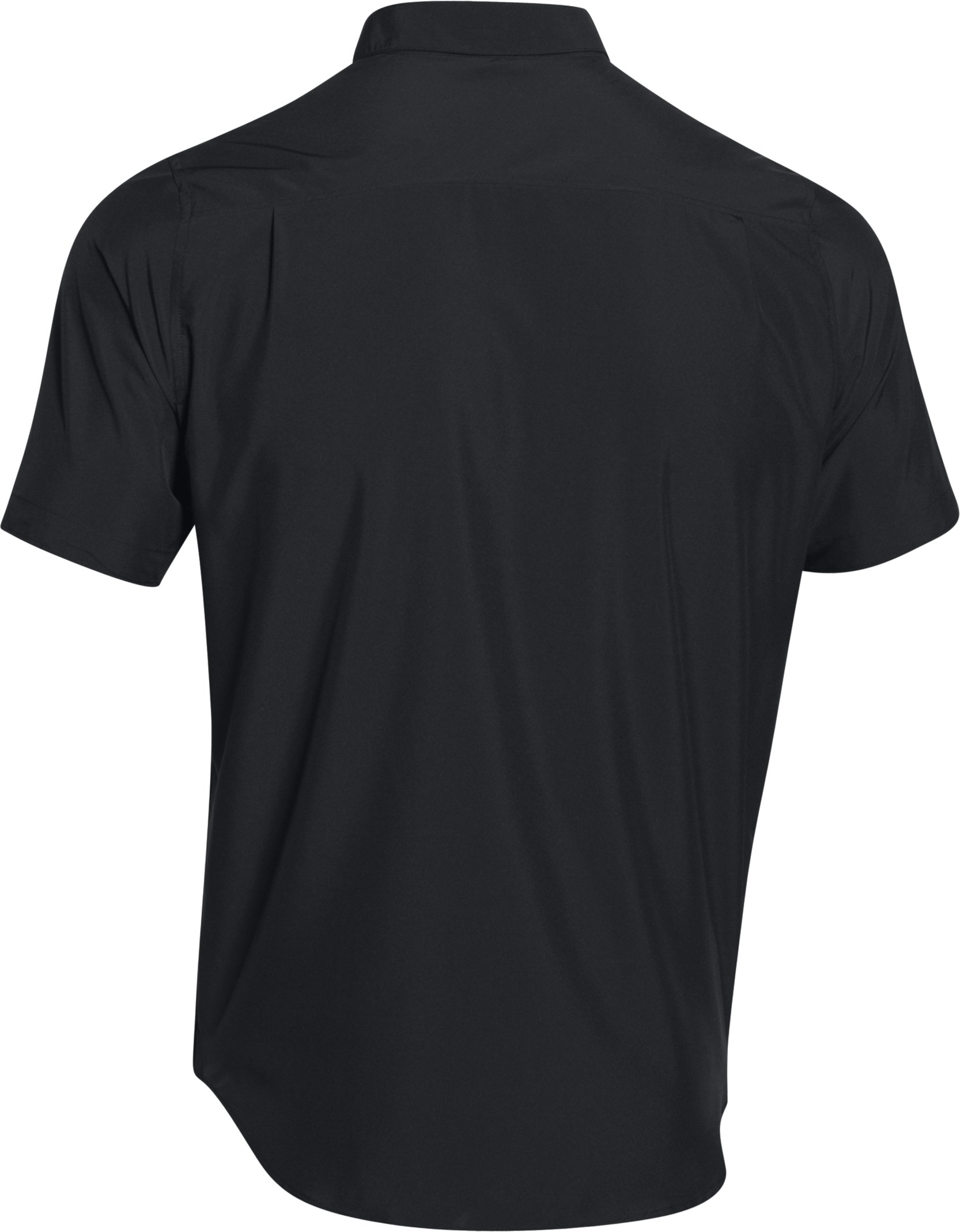 Men's UA Chesapeake Short Sleeve Shirt, Black , undefined