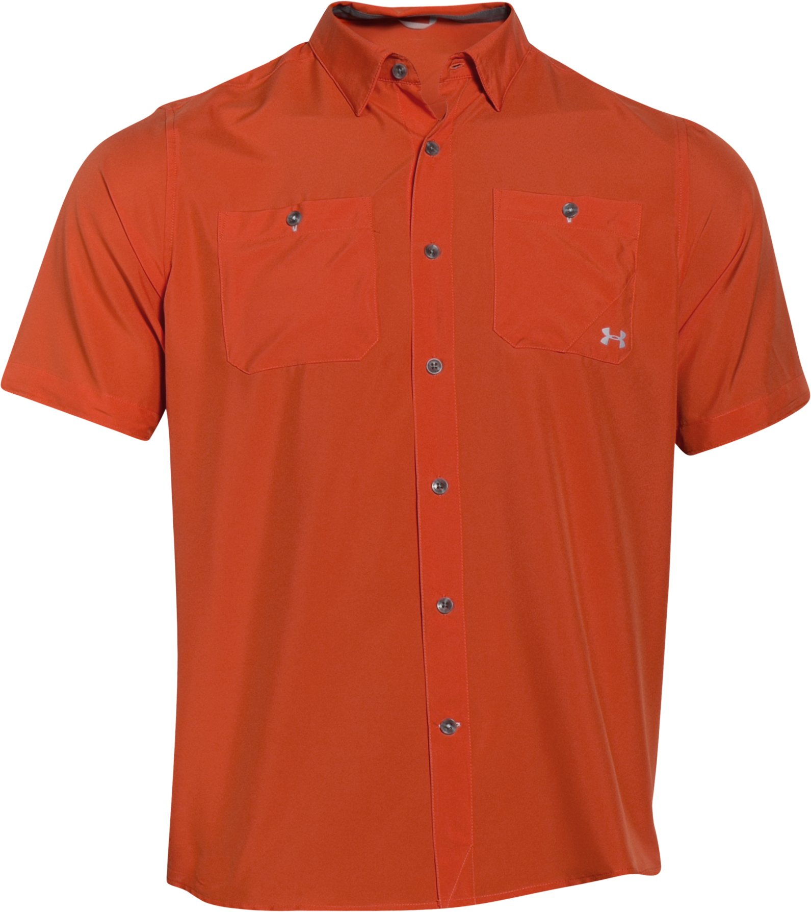 Men's UA Chesapeake Short Sleeve Shirt, VENISON